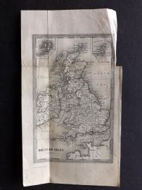 Goldsmith 1842 Antique Map. British Isles by Thomas Starling